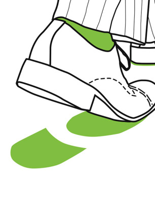 Green footprint illustration