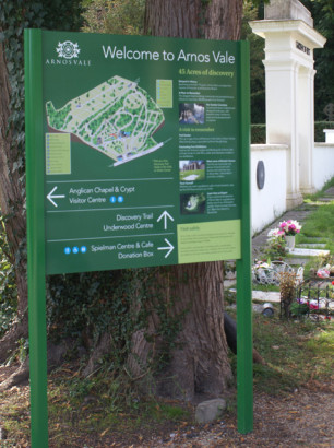 Site Information board with map