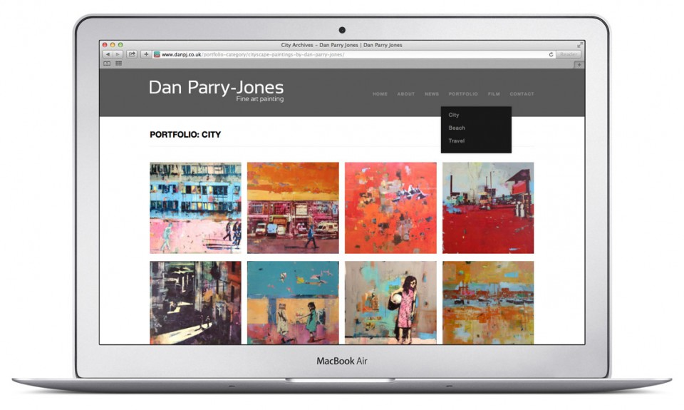 Artist Portfolio Website By Frisbee Creative Frisbee Creative